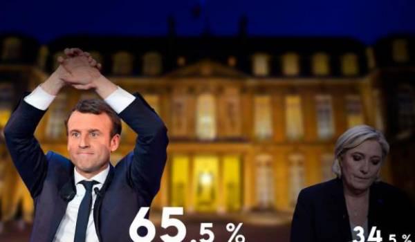 France: Macron élu président en l'emportant largement sur Le Pen