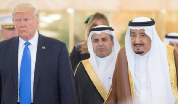 Trump lors de sa visite en Arabie saoudite.