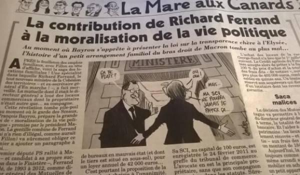 L'article de l'hebdomadaire satirique français.