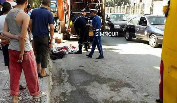 L'accident a eu lieu en plein centre de Tiaret.