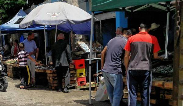 Le poisson vendu sous le soleil.