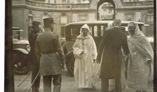Le sultan Mohamed V reçu à l'Elysée.