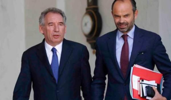 Le désormais ex-ministre François Bayrou et Edouard Philippe, Premier ministre.