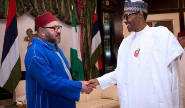 Mohammed VI et Muhammadu Buhari