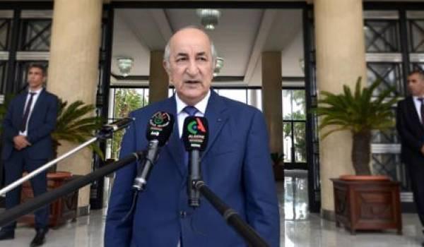 Abdelmadjid Tebboune va présenter le plan du gouvernement mardi à l'APN.