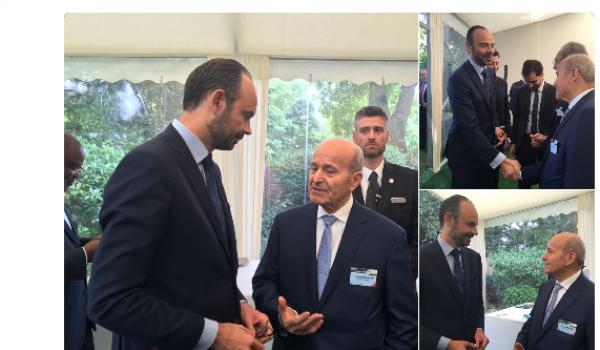 Le Premier ministre français reçoit Issad Rebrab