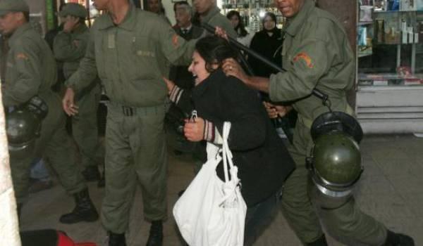La police est intervenu à maintes reprises sans ménagement contre les manifestants rifains.