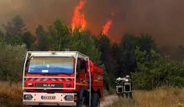 Plus de sept incendies ravagent le territoire.