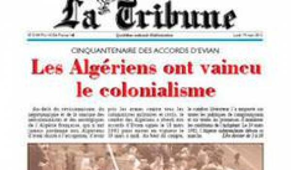 """Le journal """"La Tribune"""" au milieu du gué"""