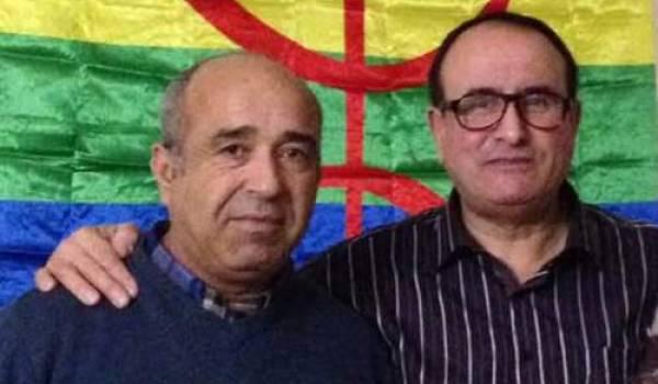 Said Boukhari (à gauche) avec Ali Nait Djoudi (ami du militant et responsable du comité de solidarité en France).