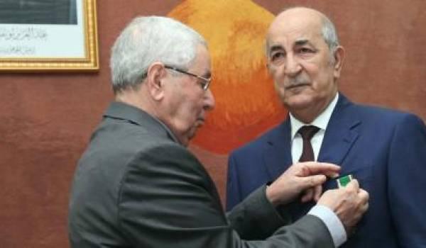 Abdelmadjid Tebboune décoré de l'ordre national du mérite puis limogé.