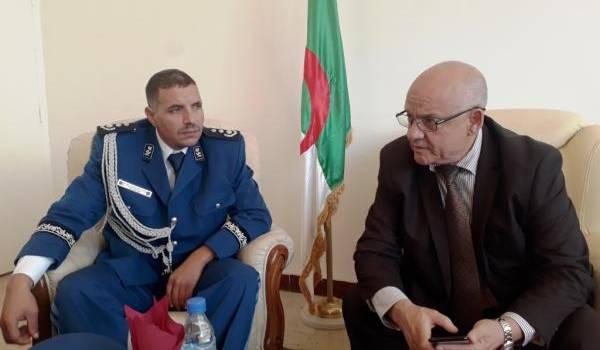 Fodhil Abdelhamid et le wali de Tiaret