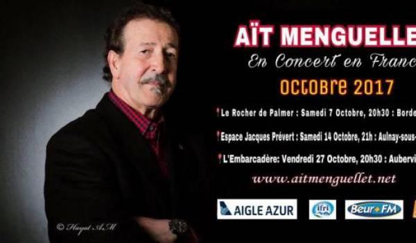 Lounis Aït Menguellet donnera trois concerts en octobre en France