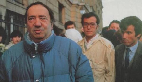 Ali André Mecili au cours d'une manifestation.