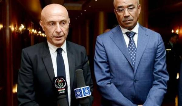 Le ministre italien de l'Intérieur, Marco Minniti, actuellement en Algérie. Photo APS