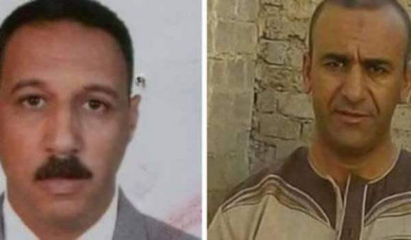 Aissaoui Tayeb et Saad Allouaoui, les deux policiers qui ont perdu la vie en stoppant le terroriste auteur de l'attentat.