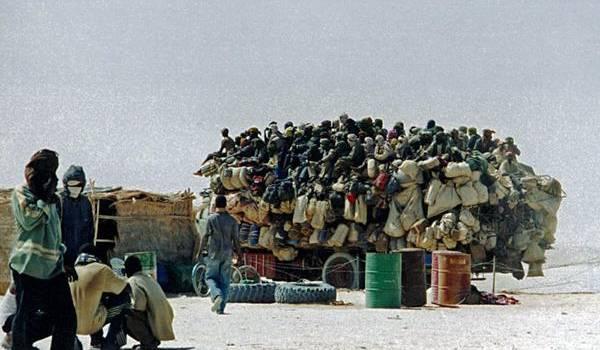 Migrants dans le Sahara