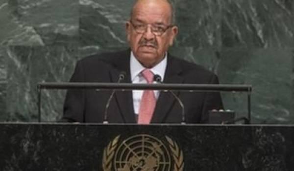 Abdelkader Messahel à l'Onu.