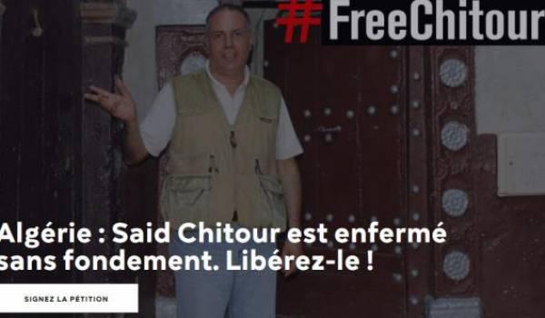 Saïd Chitour, journaliste algérien, est détenu en Algérie sans procès.