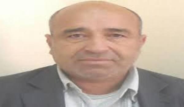 Le militant et ancien animateur du MCB Said Boukhari.