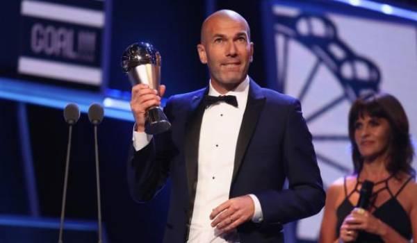 Zinedine Zidane sacré meilleur entraîneur de l'année