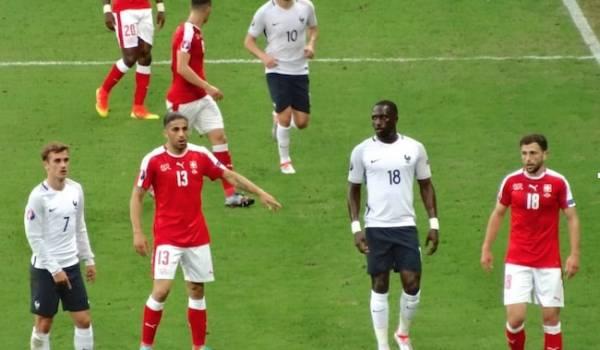 L'équipe de Suisse face à la France lors de l'Euro 2016