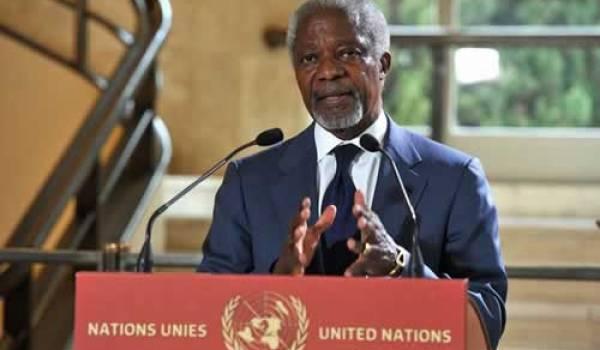 """Koffi Anane: mission de """"paix"""" impossible en Syrie"""