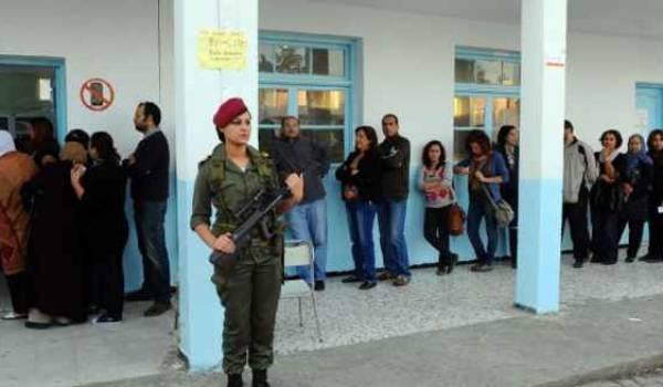 jour d'élections libres en Tunisie