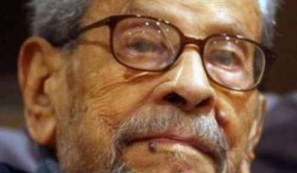 L'écrivain et prix Nobel de littérature, Naguib Mahfouz