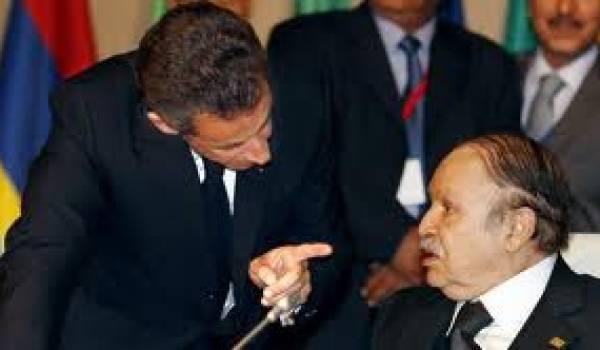 La France a toujours gardé des leviers d'influence en Algérie. Ici Sarkozy et Bouteflika