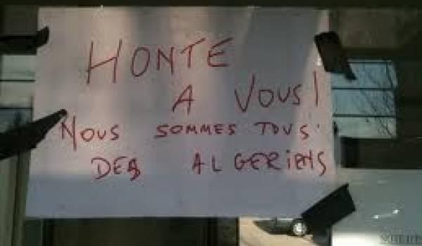 Affiche dénonçant le mépris des émigrés au consulat de Montpellier.