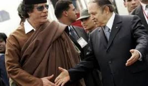 La fin du soutien au dictateur libyen est sonnée à Alger.