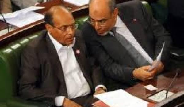 Le président Moncef Marzouki et le chef du gouvernement Jabali