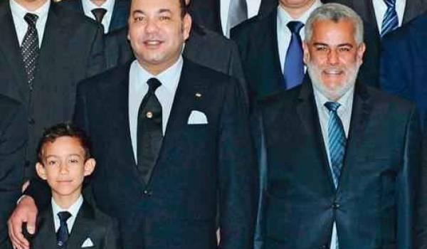 Le roi Mohamed VI du Maroc et Abdellilah Benkirane