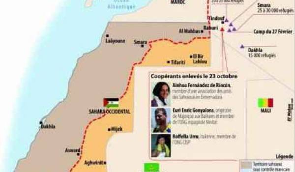 On ignore où sont retenus les trois humanitaires kidnappés dans un camp sahraoui.