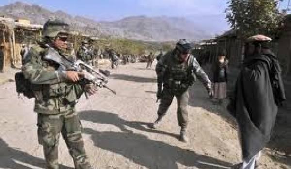 Soldats français en patrouille en Afghanistan.